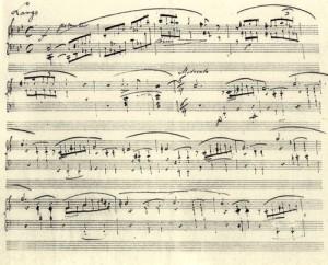 ballade-no-1-manuscript